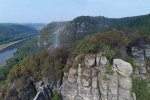 Einsatz der Drohne in der Sächsischen Schweiz im Auftrag der Feuerwehr